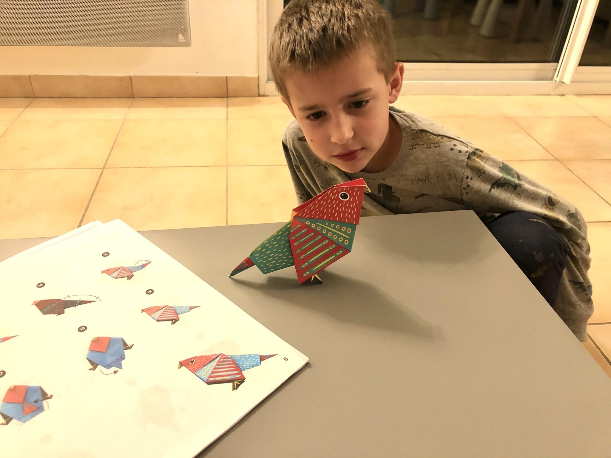 On teste les oiseaux en origami de chez Joli Origami